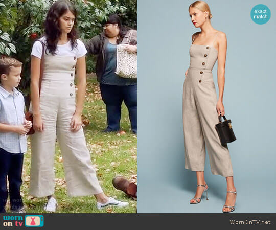 Reformation Tortuga Jumpsuit worn by Sabrina Pemberton (Sofia Black D'Elia) on The Mick