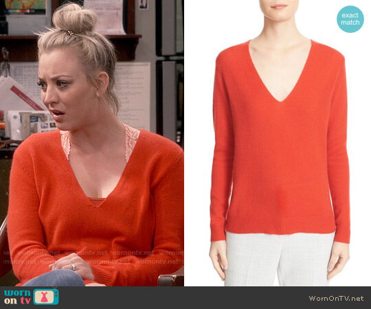Theory Adrianna Sweater worn by Kaley Cuoco on The Big Bang Theory