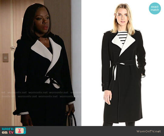 Theory Laurelwood Coat worn by Viola Davis on HTGAWM