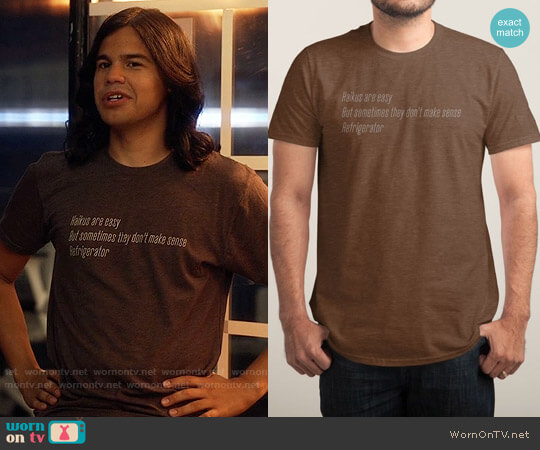 Threadless Haikus Are Easy, But Sometimes... worn by Carlos Valdes on The Flash