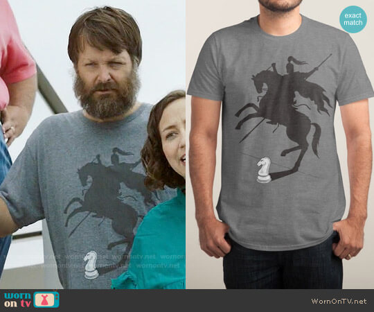 Threadless Think Big! T-shirt worn by Will Forte on Last Man On Earth