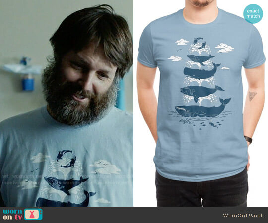 Threadless Whale of a Time T-shirt worn by Will Forte on Last Man On Earth
