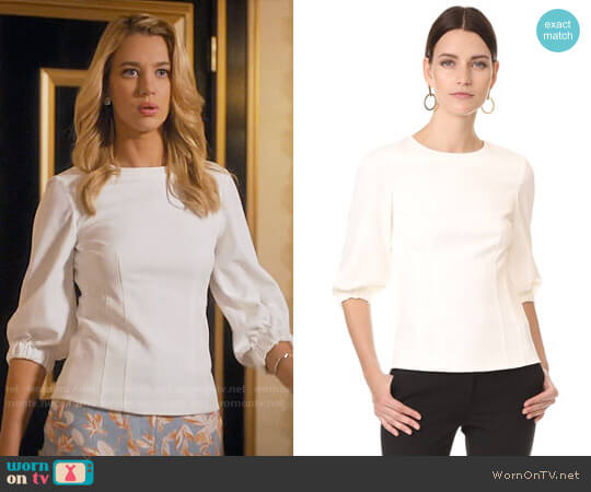 Tibi Peplum Corset Top worn by Yael Grobglas on Jane the Virgin