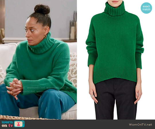 Tomorrowland Stockinette-Stitched Wool Turtleneck Sweater worn by Rainbow Johnson (Tracee Ellis Ross) on Blackish