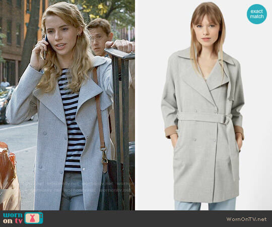 Topshop Double Breasted Trench Coat worn by Stephanie 'Stevie' McCord (Wallis Currie-Wood) on Madam Secretary