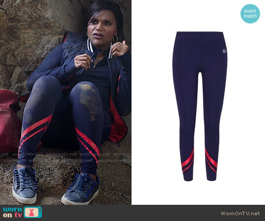 Tory Sport Chevron Leggings worn by Mindy Lahiri (Mindy Kaling) on The Mindy Project