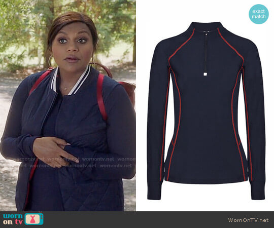 Tory Sport Mesh Pullover worn by Mindy Lahiri (Mindy Kaling) on The Mindy Project