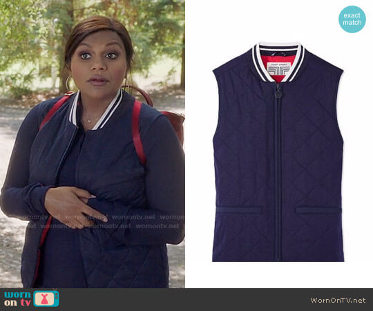Tory Sport Quilted Vest worn by Mindy Lahiri (Mindy Kaling) on The Mindy Project