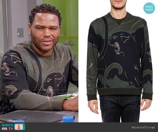 Valentino Jersey Sweatshirt worn by Anthony Anderson on Blackish