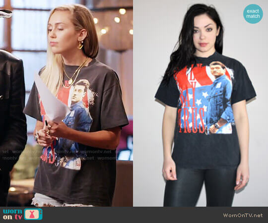 Vintage Billy Ray Cyrus T-shirt worn by Miley Cyrus on The Voice