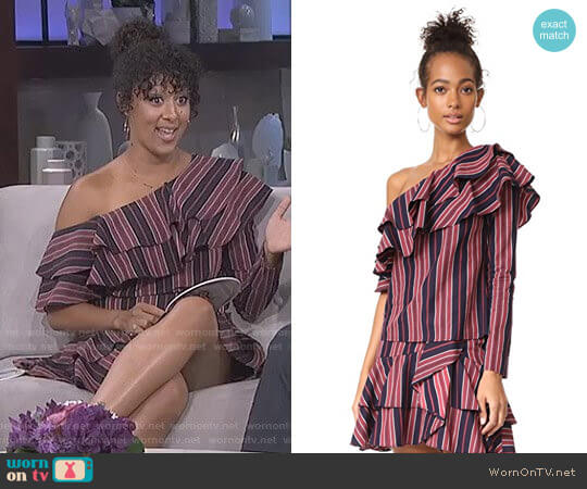 Wayf Cheyenne Top and Clark Skirt worn by Tamera Mowry on The Real