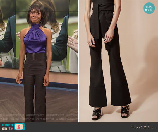We Woke Up Pant by C/Meo Collective worn by Zuri Hall  on E! News