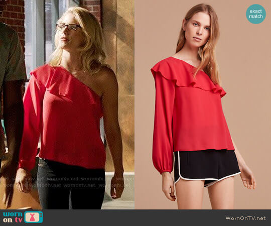 Wilfred Allaire Blouse worn by Felicity Smoak (Emily Bett Rickards) on Arrow