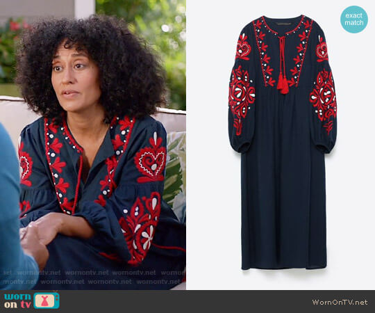 Zara Long Dress worn by Tracee Ellis Ross on Blackish