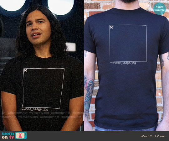 Awesome Image T-shirt worn by Carlos Valdes on The Flash