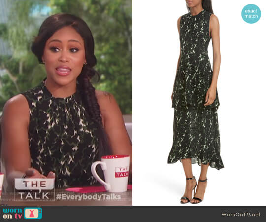 Wylon Print Silk Dress by ALC worn by Eve on The Talk