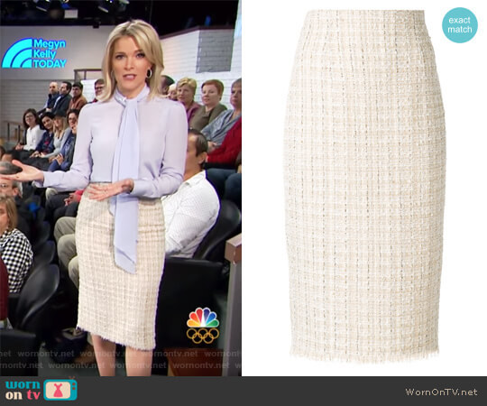 High waist pencil skirt by Alexander McQueen worn by Megyn Kelly on Today