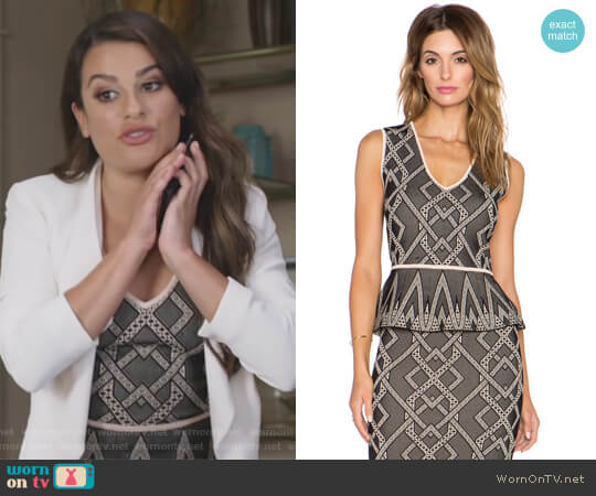 Alonya Top by BCBGMAXAZRIA worn by Lea Michele on The Mayor