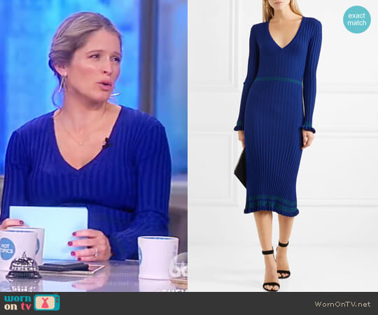 Isolde ribbed-knit midi dress by Altuzarra worn by Sara Haines on The View