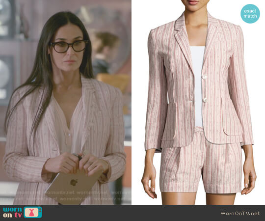 Cotton Linen School Boy Blazer by Anthony Thomas Melillo worn by Claudia Fletcher (Demi Moore) on Empire