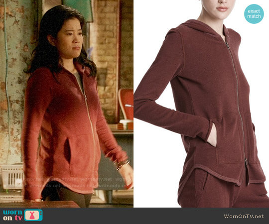 ATM Anthony Thomas Melillo French Terry Zip Up Hoodie worn by Happy Quinn (Jadyn Wong) on Scorpion