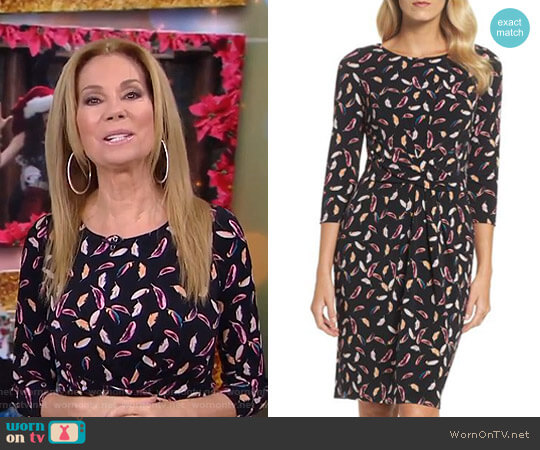 Print Stretch Sheath Dress by Adrianna Papell worn by Kathie Lee Gifford  on Today