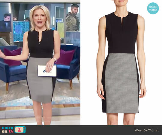 Houndstooth Panel Sheath Dress by Akris Punto worn by Megyn Kelly on Today