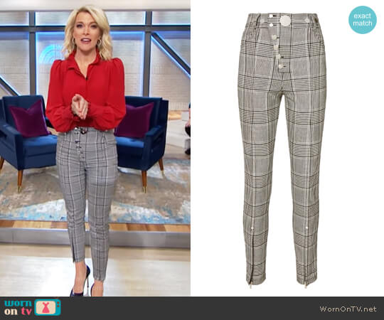 High-Waisted Plaid Leggings by Alexander Wang worn by Megyn Kelly on Today