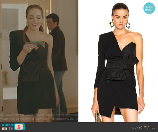 One Shoulder Dress by Alexandre Vauthier worn by Fallon Carrington (Elizabeth Gillies) on Dynasty
