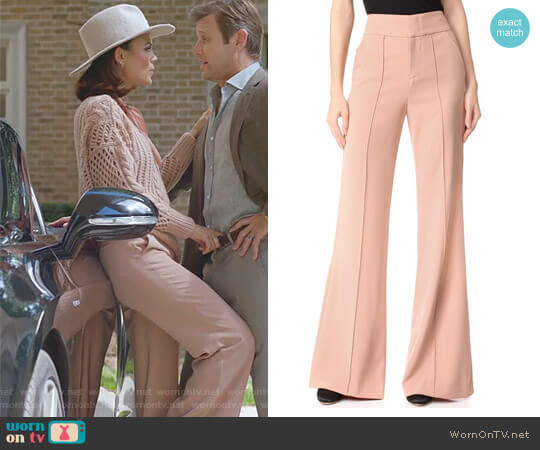 Dawn High Waisted Pants by Alice + Olivia worn by Nathalie Kelley on Dynasty