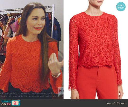 'Pasha' Top by Alice + Olivia worn by D'Andra Simmons (D'Andra Simmons) on The Real Housewives of Dallas