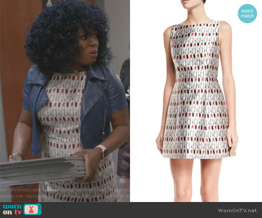 Lindsey Structured Cosmetics-Print Dress by Alice + Olivia worn by Ta'Rhonda Jones on Empire