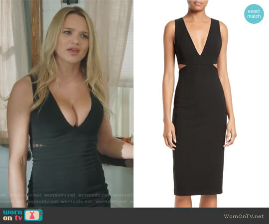 Riki Cutout Sheath Dress by Alice + Olivia worn by Hunter King on Life in Pieces