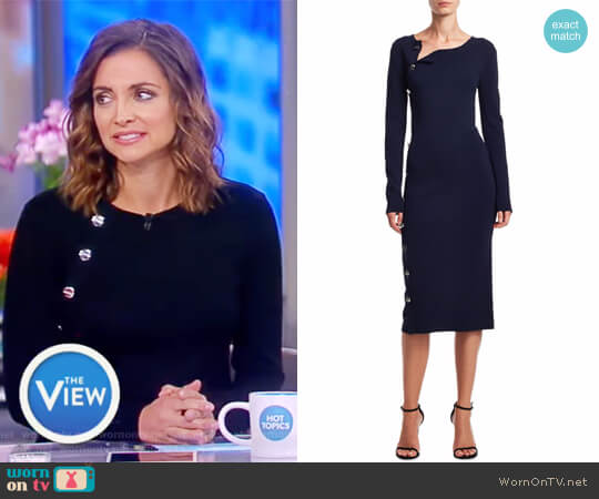 Arzel Knit Sheath Dress by Altuzarra worn by Paula Faris on The View