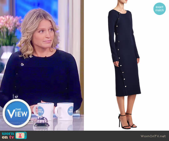 Arzel Knit Sheath Dress by Altuzarra worn by Sara Haines on The View