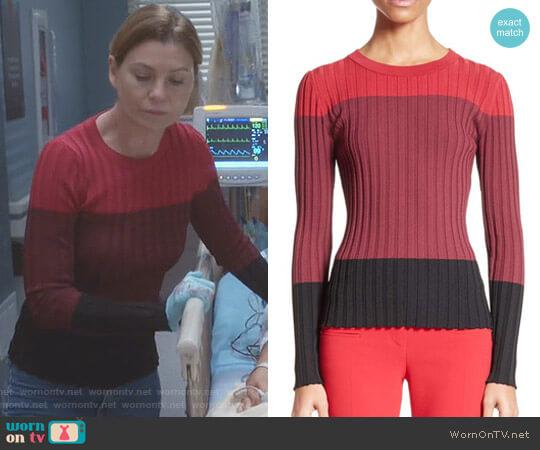 'Leila' Sweater by Altuzarra worn by Ellen Pompeo on Greys Anatomy