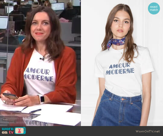 Amour Moderne Tee by & Other Stories worn by Melanie Bromley  on E! News