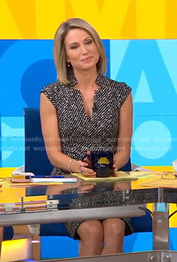 Amy's tweed v-neck dress on Good Morning America
