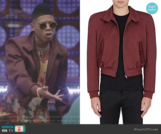 Barracuda Cotton-Blend Crop Jacket by Balenciaga worn by Hakeem Lyon (Bryshere Y. Gray) on Empire