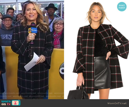 'Hewes' Coat by BB Dakota worn by Ginger Zee  on Good Morning America