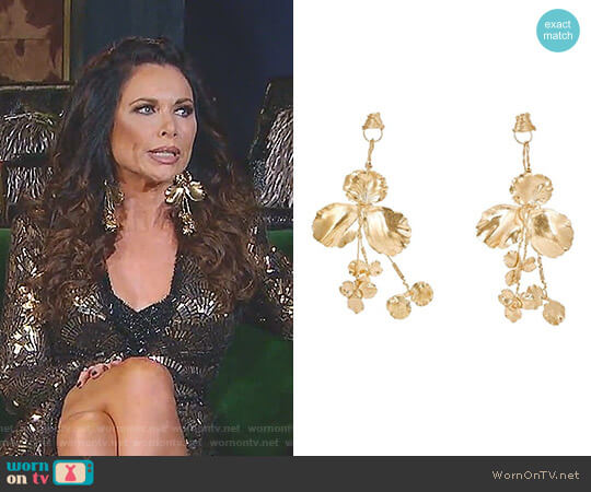 Flower Drop Earrings by Balenciaga worn by LeeAnne Locken on The Real Housewives of Dallas