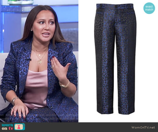 Leopard Print Pants by Banana Republic worn by Adrienne Houghton on The Real