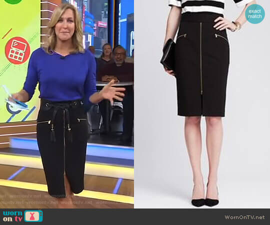 'Sloan' Skirt by Banana Republic worn by Lara Spencer on Good Morning America