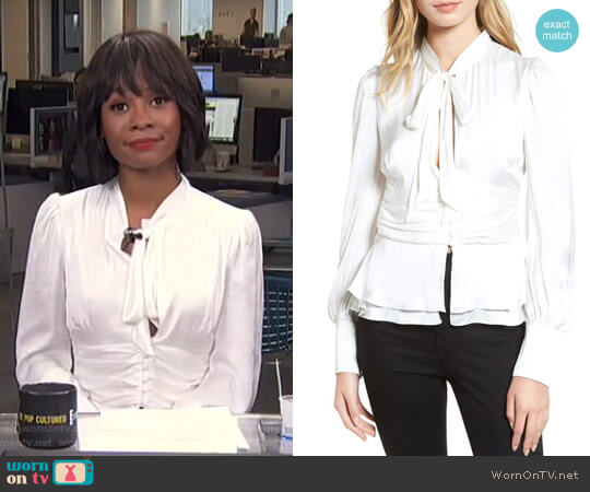 Tie Front Blouse by Bardot worn by Zuri Hall on E! News