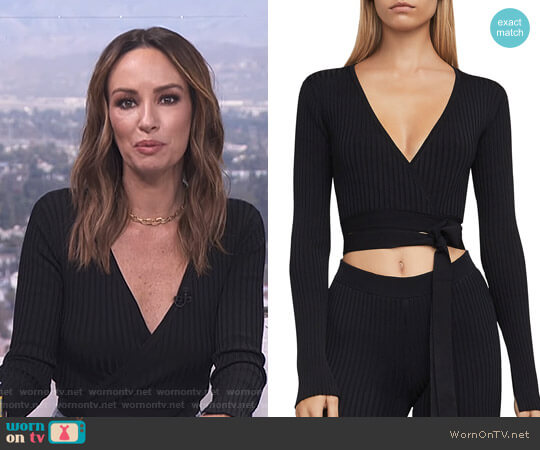 'Emily' Top by Bcbgmaxazria worn by Catt Sadler on E! News