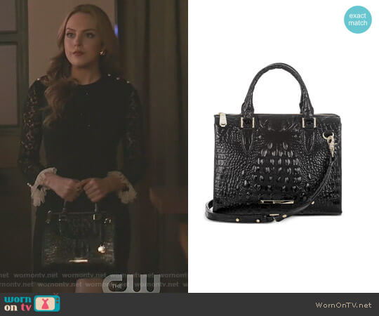 Melbourne Anywhere Convertible Satchel by Brahmin worn by Elizabeth Gillies on Dynasty