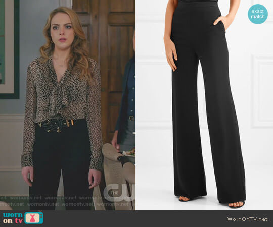Crepe Wide-Leg Pants by Brandon Maxwell  worn by Fallon Carrington (Elizabeth Gillies) on Dynasty