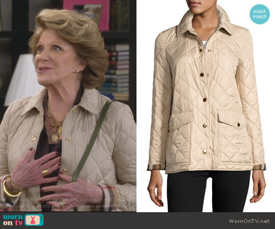 Westbridge Quilted Jacket by Burberry worn by Linda Lavin on 9JKL