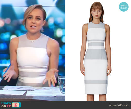 Stone Stripe Tunic Dress by By Johnny worn by Carrie Bickmore  on The Project