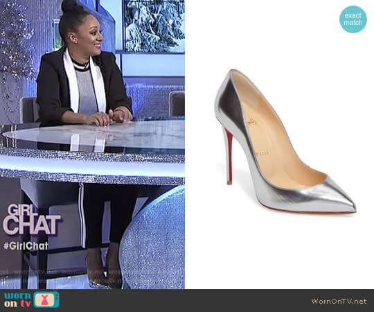 'Pigalle' Pumps by Christian Louboutin worn by Tamera Mowry  on The Real